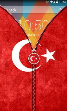 Turkey Flag Zipper UnLock screenshot 3