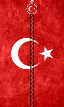 Turkey Flag Zipper UnLock poster