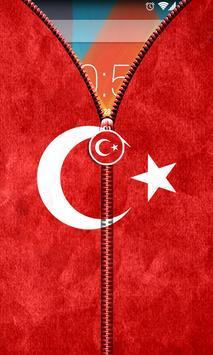 Turkey Flag Zipper UnLock screenshot 2