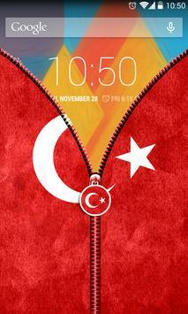 Turkey Flag Zipper UnLock screenshot 4