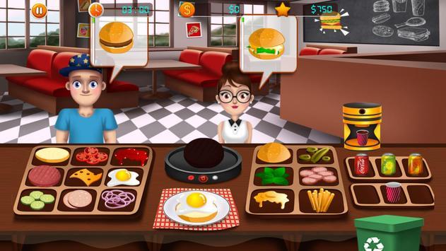 Fast Food Restaurant Burger Mania Cooking Games screenshot 1