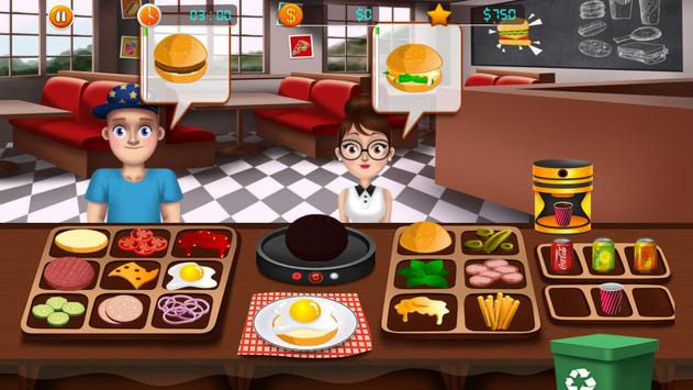 Fast Food Restaurant Burger Mania Cooking Games screenshot 2