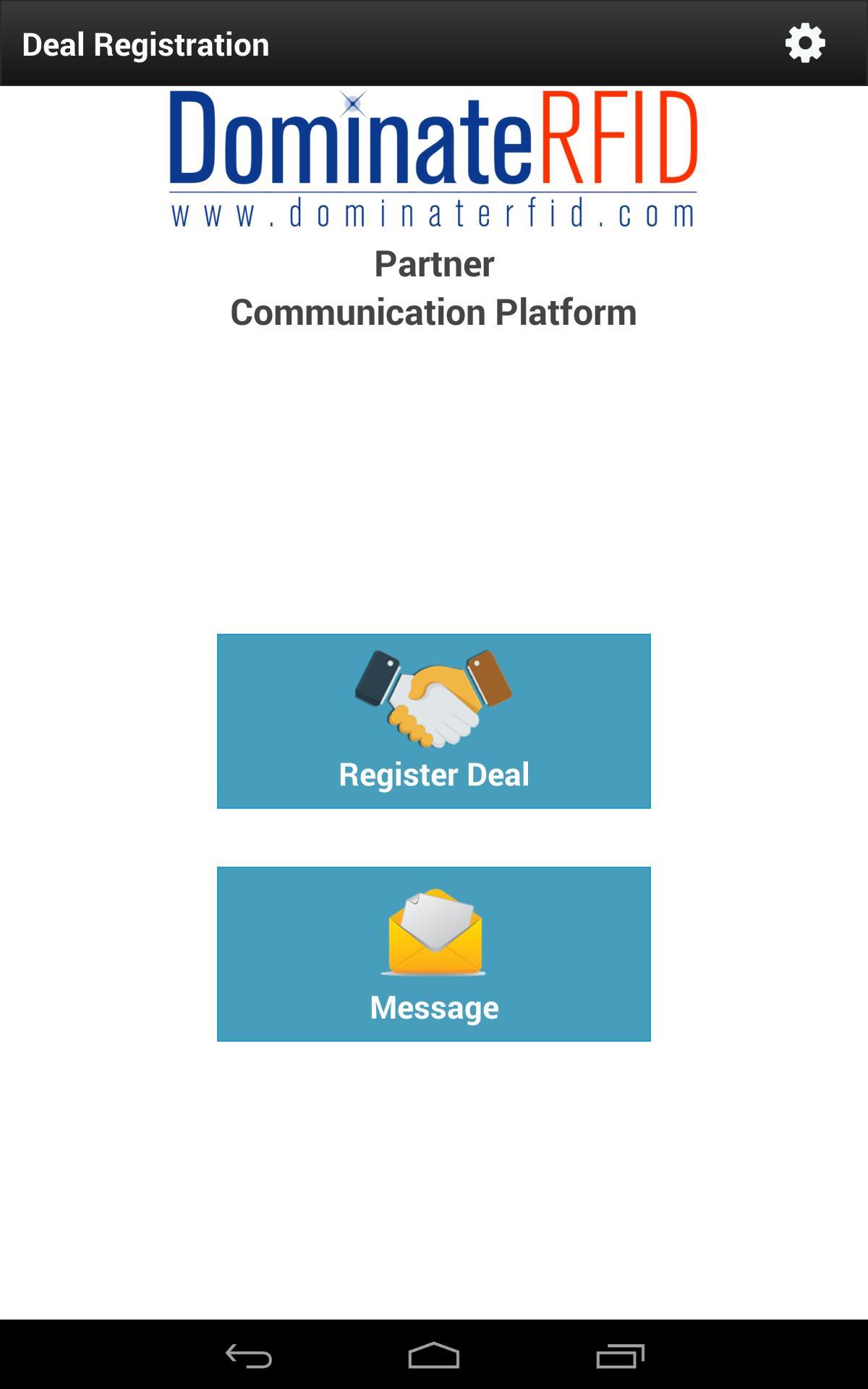 DominateRFID Partner Communication Platform poster
