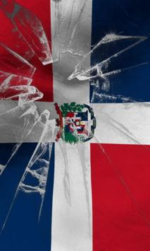 Dominican republic flag Free poster