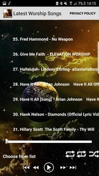 Latest Worship Songs Praise and Worship Songs apk screenshot