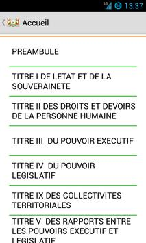 La Constitution du Niger apk screenshot
