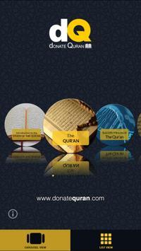 Donate Quran poster