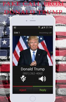 Fake Call From Donald Trump apk screenshot