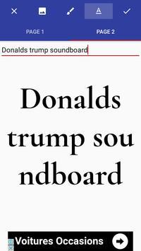 Donald Draws - Frappe Trump apk screenshot