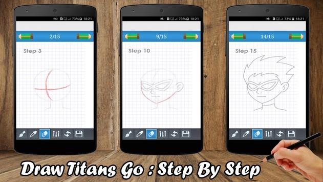 How to draw - Titans Go 2017 poster