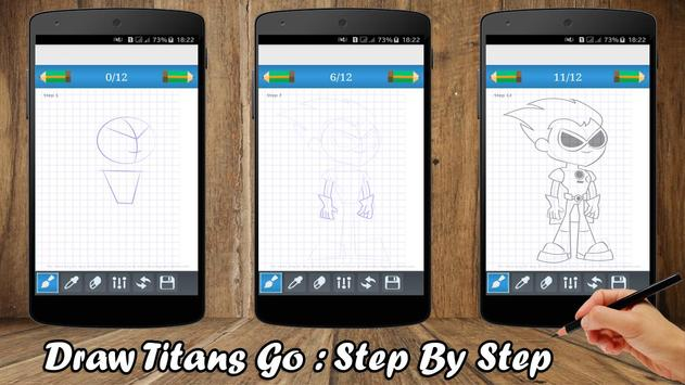 How to draw - Titans Go 2017 apk screenshot