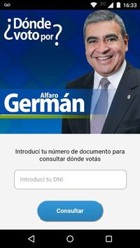 ¿Dónde voto por Germán Alfaro? poster