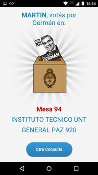¿Dónde voto por Germán Alfaro? screenshot 1