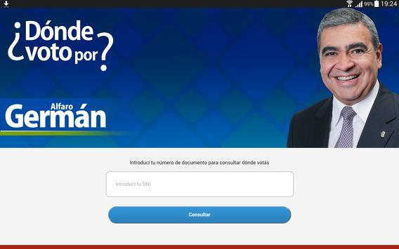 ¿Dónde voto por Germán Alfaro? screenshot 2