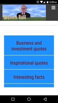Warren Buffett Quote for life poster