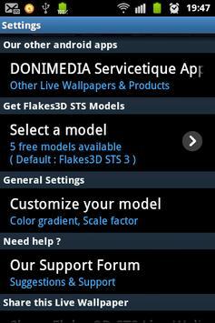 Flakes3D STS Live Wallpaper apk screenshot