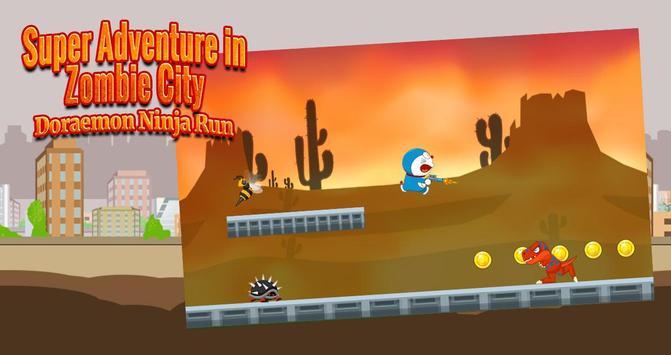 Super adventure in zombie city : doremon ninja run apk screenshot