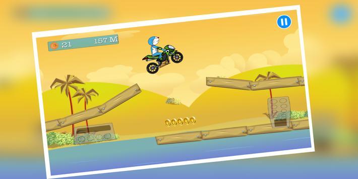 adventure of doraemon bike poster