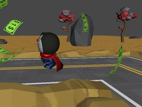 3D Super Cat Man Run Game poster