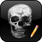 How To Draw Skull icon