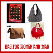 bag for woman and man design icon