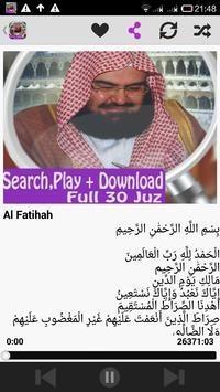 Syeikh Abdul Rahman As Sudais poster