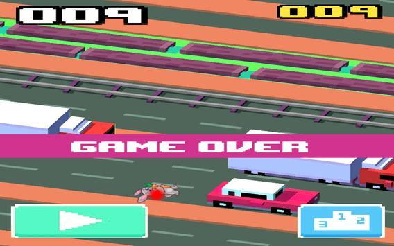 Crossy Hopping-Bunny Hop Cross Road screenshot 3