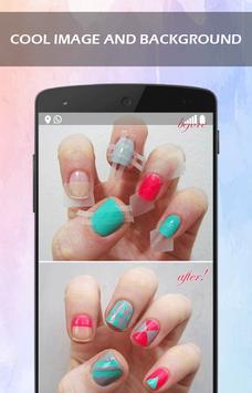 DIY Pink Heart Nail Art Tutorial apk screenshot