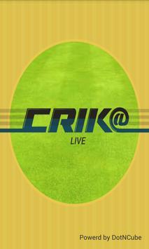 IPL 2014 Cricket app-Crik@ poster