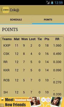 IPL 2014 Cricket app-Crik@ apk screenshot