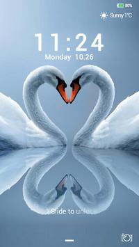 White Swan Lock screen theme poster