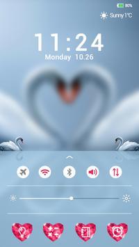 White Swan Lock screen theme apk screenshot