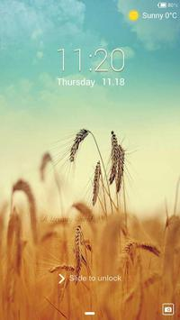 Harvest Lock screen theme poster
