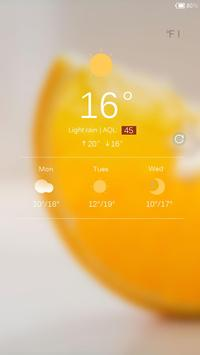 Sweet Orange Locker theme apk screenshot