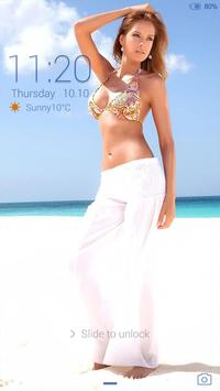 Sexy girl - beach # iDO Theme poster