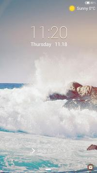 The Wave Lock screen theme poster