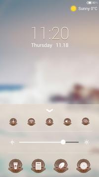 The Wave Lock screen theme apk screenshot