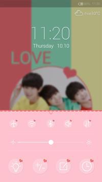 TFboys - iDO Lockscreen apk screenshot