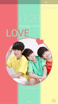 Lovely boys Locker theme poster