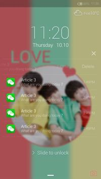 Lovely boys Locker theme apk screenshot
