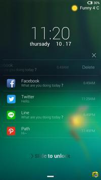 Firefly Lock screen theme apk screenshot