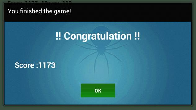 Spider Solitaire Game apk screenshot