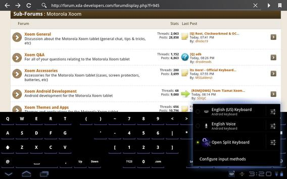 Open Split Keyboard screenshot 1