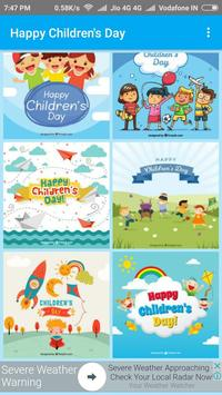 Happy Children's Day - Greetings poster