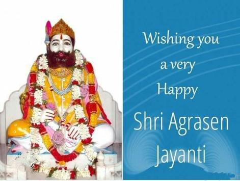 Maharaja Agrasen Jayanti Wishes Cartaz
