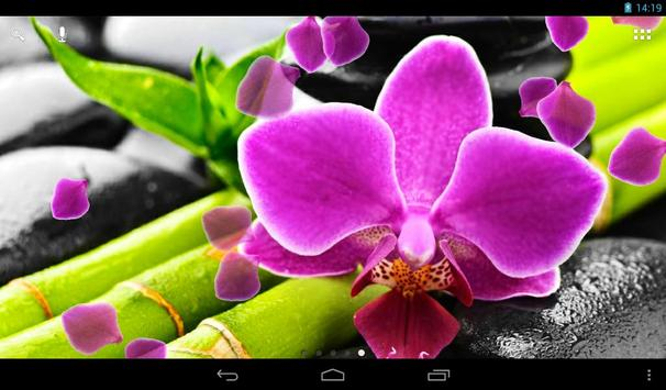 Orchid Live Wallpaper apk screenshot