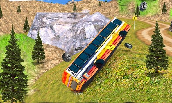 Mountain Hill Climb Bus Driving poster