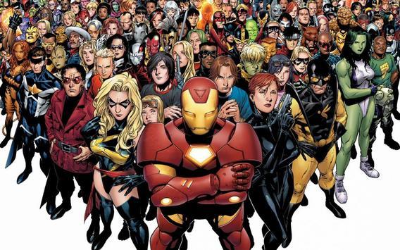 American superheroes poster