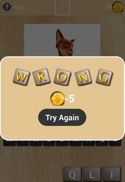 Guess Zootopia Word apk screenshot