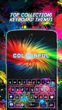 Colourful Neon Keyboard Themes poster